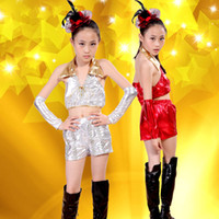 Wholesale Wholesale Hip Hop Dance Clothing - 3pcs2color Hot sell Jazz Children's Dance Costume  Cheerleader Costume  Modern Dance Performance   Hip-Hop Performance Clothing