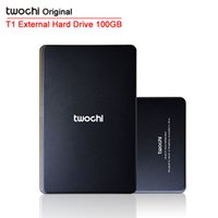 Wholesale External Hard 2tb - Wholesale- Free shipping TWOCHI T1 Original 2.5'' External Hard Drive 100GB USB2.0 Mobile Portable HDD Storage Disk Plug and Play