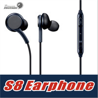 Wholesale Apple Logo Ear - For Samsung GALAXY S8 S8+plus Stereo sound earphone earbuds High quality earphones with wired In-Ear Headset No Logo