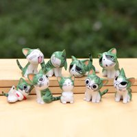 9pcs / set Chi Sweet Home Cat Doll Mini Cats Figure Anime Decorazione animale Action Figure Kitten Collection Modello Giocattoli