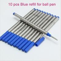 Wholesale best art pens for sale - 10pcs Top quality Best DesigenHigh Qeality Refill Blue Ink For MOUNT Roller Ball Pen