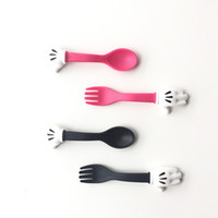Wholesale 2pcs Fork Spoon Set Kids Dinnerwar Stainless Steel Tableware Sets for Baby Boys Girls Feeding Tools