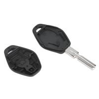 e46 bmw uzaktan kumanda anahtarı toptan satış-Uzaktan Değiştirme Araba Anahtarı Kabuk Fob Durumda Kapak BMW 3 5 7 SERISI Z3 Z4X3X5 M5 325i E38 E39 E46 3 Düğme