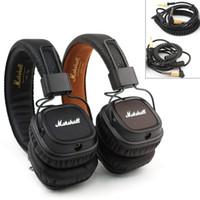 Wholesale Brown Monitor - Marshall Major 2 II 2nd Generation Headphones Headset Deep Bass Studio Monitor Rock DJ HiFi headphone free shipping