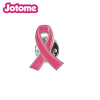 Wholesale Wholesale Inches Rhinestone Brooches - 100pcs 1 inch 100pcs a lot Hope Pink Ribbon Breast Cancer awareness Lapel Pin