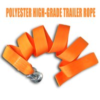 Wholesale Towing Straps Wholesale - Auto Tow Cable Towing Strap Rope With Hooks Road Recovery Emergency String Tons Car Truck free shipping