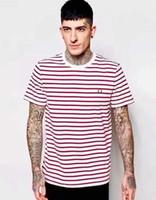 Wholesale Express Shorts Men - Top Express 2017 New Mens Fred Brit Striped T-shirts Summer London Fashion Casual T-shirt Hot Male Tshirt England Tees S-XL