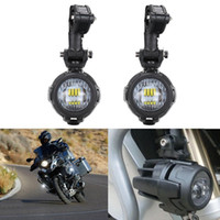 Wholesale Led Spot Light Kit - 2 pcs Spot LED Auxiliary Fog Light Safety Driving Lamp Protect Guards And Wire Motorcycle for BMW R1200GS