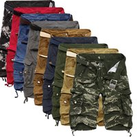 Wholesale silver hot pants - Wholesale-Cargo Shorts Men Cool Camouflage Summer Hot Sale Cotton Casual Men Short Pants Brand Clothing Comfortable Camo Men Cargo Shorts