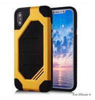 Wholesale hornet phone resale online - New Plus Super Hornet Cellphone Case For iPhone X Plus Protective CoverTPU PC Shockproof Armor Mobile Phone Case colors