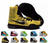 Wholesale Fabric Basket Weaving - 2017 Kobe 10 Elite Weaving Retro Mens Basketball Shoes For Men Top Quality KB X 10s High Training Basket ballSports Sneakers Size 7-12