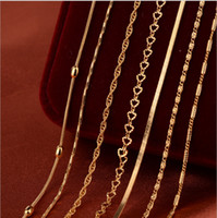 Wholesale Manufacturer Plant - Manufacturers of new wholesale European and American women's necklace box chain chain of fine copper-plated gold necklace
