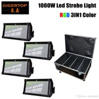 Gigertop 4in1 Фронтальный чемодан с колесами RGB LED Strobe Stage Light DMX-512 PAR Дискотека DJ Party Lighting 1000W High Brighness