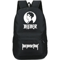Backpacks outdoor tours - Justin Bieber backpack Purpose tour daypack Super star schoolbag Music rucksack Sport school bag Outdoor day pack