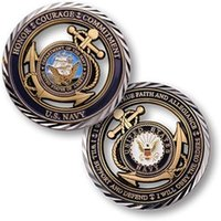 Wholesale Navy Souvenirs - U.S. Navy Core Values Hollow Coin,United States Challenge Coin