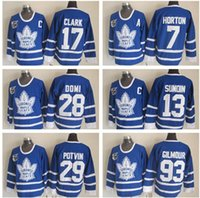 Wholesale 2017 New Toronto Maple Leafs HORTON SUNDIN POTVIN DOMI Wendel Clark GILMOUR Red Alternate Stitched Jerseys