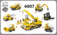 Wholesale Toy Bulldozers - LOZ Mini Construction Series Building Forklift Block Mini Lifting truck Block Toys DIY Educational bulldozer Bricks #4005-4007