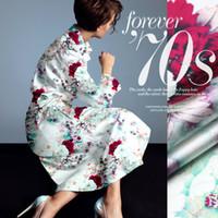 118cm wide 19mm 93 silk u0026 7 spandex peony print silk satin fabric for summer dress shirt clothes cheongsam d328