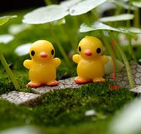ingrosso mestiere dell'oceano-20pcs Mini Yellow Duck MiniaturesFairy Garden Resin Craft Fairy Bonsai Ocean Micro Landscape Home Decor