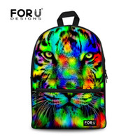 Wholesale Unique Tiger - Wholesale- Brand Unique 3D Tiger Head Backpack Women Preppy Printing Backpack Casual Large Capacity Student Girls School Backpack