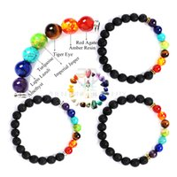 Wholesale Chakra Balls - Chakra Bracelet with Clay 8mm Mix 7 Color Beads Round Ball Bracelet Shamballa Bracelet Chakra Bracelets Free Shipping