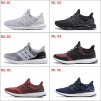 Cheap Ultra Boost 3.0 Triple Chaussures de course pour hommes femmes Ultraboost 3 Primeknit Runs Noir Blanc Casual Ultrals Stimule mens womens Sneakers