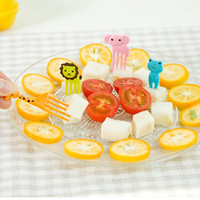 Wholesale Decoration Fruit Fork - Korean edition creative kitchenware Animal farm Cute mini bento sign child fruit fork creative plastic bento decoration Super '
