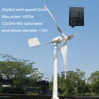Wholesale Generator 12v Controller - 600w horizontal wind turbine Max power 800w 12v 24v 48v home use generator with water proof wind charge controller ,started at 2m s