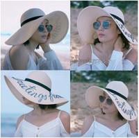 Wholesale Casual Beachwear For Women - Summer wide brim hats women beach hat sun protection beachwear for ladies elegant hat for women hot sale