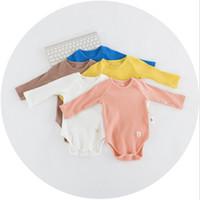 Wholesale Long Sleeve Bodysuit 12 Months - Baby Romper Fashion Candy Color Long Sleeve Autumn Boys Girls Bodysuit Cute All-match Toddler Onesie Infant Jumpsuit C1293
