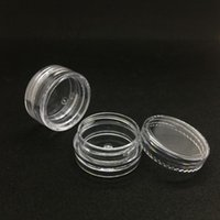 Wholesale Face Gram - 3 Gram Clear Empty Jars Round Shape 3ML Cosmetic Face Cream Nail Art Essential Oil Transparent Plastic Vial Pots Container
