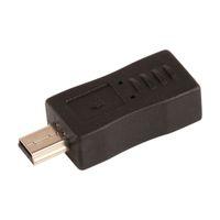 ingrosso usb esteso-ZJT23 New Black Micro USB Femmina a Mini USB Adattatore convertitore maschio Promozione Hight quantità Estendere adattatore