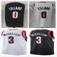 Wholesale Cj Free - 2017-18 New Season Man #0 Damian Lillard Jersey Cheap Stitched Black White Color Team #3 CJ McCollum Basketball Jersey Sports Free Shipping