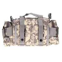 bolsillos de cintura militares al por mayor-Bolsas tácticas del deporte del bolso 600D Impermeable Oxford Tela Paquete militar de la cintura Molle Bolsa al aire libre para acampar Hiking B04