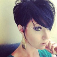 Celebrity Cheap Hair Wigs Pixie Cut Brazilian Virgin Cabelo Straight Short Wig Pixie cut Ladies peruca para Black Women