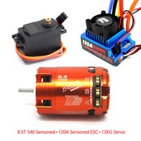 Wholesale Orange T Sensored Brushless Motor A ESC kg Servo for RC Car On Off Road suit