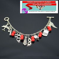 Wholesale Anna Heart - Anna Trilogy SALE 50 Shades of Grey Bracelets Laters Baby Fifty Charm Bracelet with Gift Box