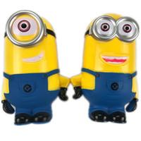 piggy bank tasarruf kutusu toptan satış-Minion Güzel 3D Minions Karikatür Rakamlar Kumbara Para Kutusu hucha Tasarruf Coin Cent Penny Çocuk Oyuncak Bebek oyuncak kumbara