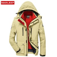Wholesale Warm Wool Vest - NIAN JEEP New 2017 Winter Warm Jacket Men Casual Brand Waterproof Clothing Top Quality Thick Fit Cotton Men's Jackets Coat Parka