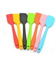 kuchen schaber spachtel großhandel-Neue Silikon Creme Spachtel Zarte Kuchen Creme Butterspatel Mischen Schaber Pinsel Kuchen Werkzeug 20,5 * 4 cm