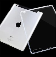 Wholesale Ipad Fitted Cases - Super Thin Case for Apple iPad 2 3 4 Transparent Soft TPU Silicon Perfect Fitting Back Clear Cover For Ipad 2 Air Mini