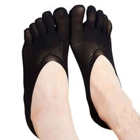 Wholesale Thin Toe Sock Women - Wholesale- Fashion New Arrival Toe Sock Slippers Invisibility Solid Color Boat Socks Five Finger Thin Skarpetki For Women Ladies #OR
