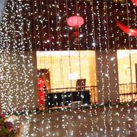 Wholesale Green Colored Led Strip - led christmas lights waterproof 3*3m 10*3m 6*4m 10*8m Christmas ornament lights Flash Colored Fairy wedding Decoration LED Strip Light CE UL