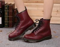 Wholesale Cheap Black Lace Heels - Wholesale cheap Winter ankle Style Dr. Genuine Leather Marten Boots Martin Shoes Men&Women Dr Designer genuine leather Boots