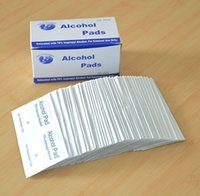 Wholesale Portable box New Alcohol Prep Pads External Use Antiseptic Wipes Isopropyl Sterilization First Aid ZA2176