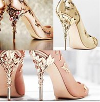 Wholesale Chain Ankle Strap High Heel - 2017 Hot Sale New style point high heels shoes pointed high-heeled shoes fine silks and satins British wind lighter pair sexy wedding shoes