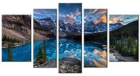Digital printing painting hanging - YIJIAHE FJ9 Canvas Painting Art Piece Landscape Wall Art Pictures Print on Canvas Stretched and Framed Ready to Hang for Wall Decor