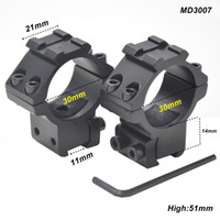 Wholesale AloneFire mm Ring Tactical Laser Sight Flashlight Scope Mount Adjustable Elevation Windage for mm Rail System MD3007 pair