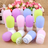 38ML / 60ML / 80ML Travel Makeup Bottles Garrafas de silicone recarregáveis ​​portáteis Traveler Packing Lotion Points Shampoo Cosmetic Organizer F0009