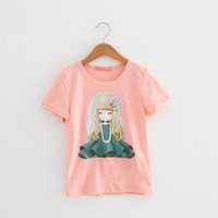 Wholesale Cut Baby Girl Princess - girls T-shirt 2017 cotton shorts t-shirts kids baby children's t shirts clothing cut princess white pink yellow blue gray 2-8T